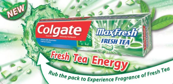 colgate toothpaste scented packaging
