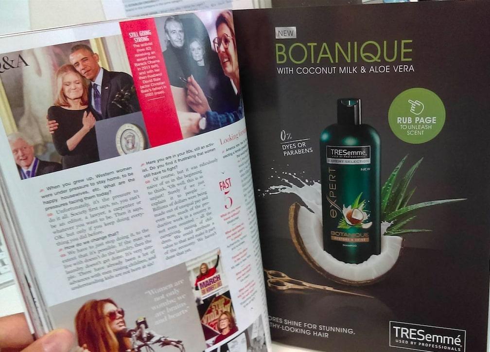 Tresemme-scented-magazine-insert
