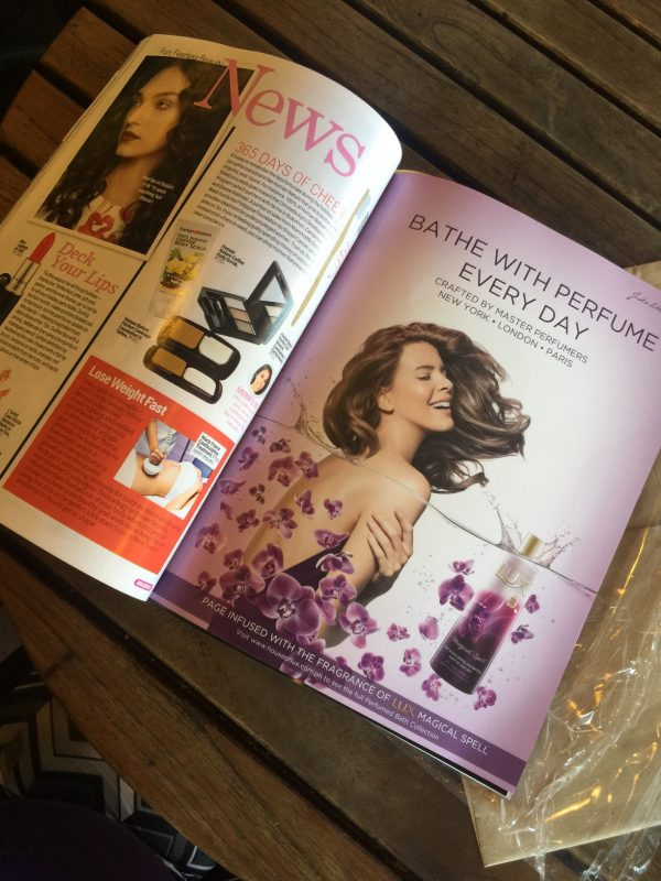 Lux Magical Spell scented magazine advertisement – full page
