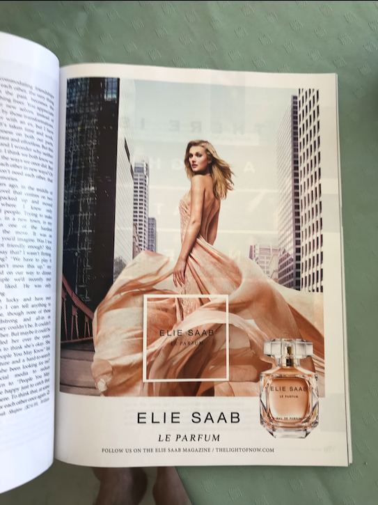 Elie Saab perfume scented magazine advertisement
