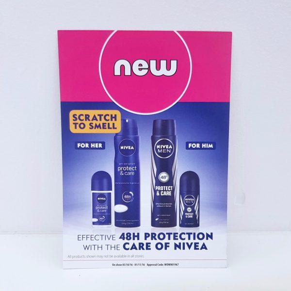 Nivea Protect & Care deodorant scented card
