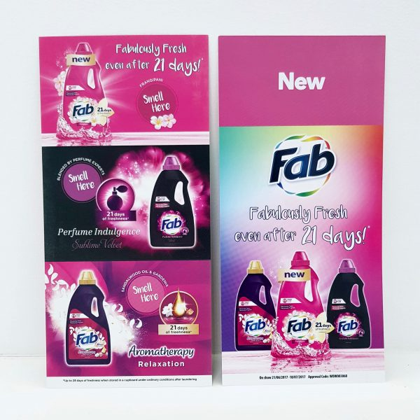 Fab Aromatherapy in-store brochures