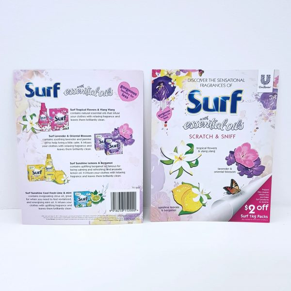 Surf with Essential Oils scented card