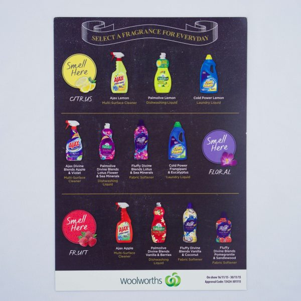 Woolworths products in-store brochure – back