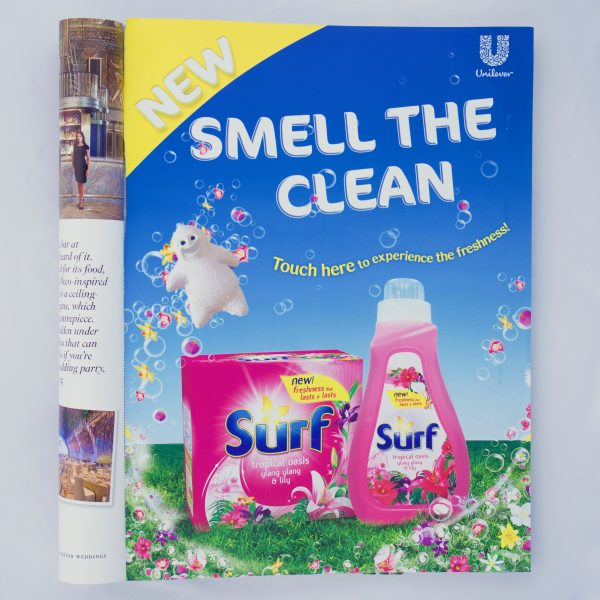 Surf scented magazine advertisement – full page