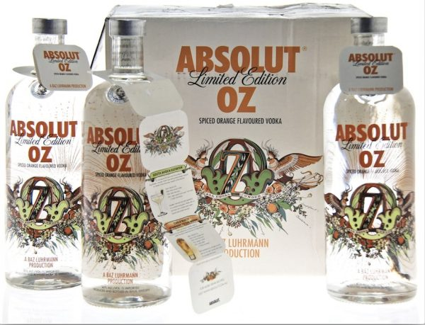 Absolut Vodka scented necktags on product