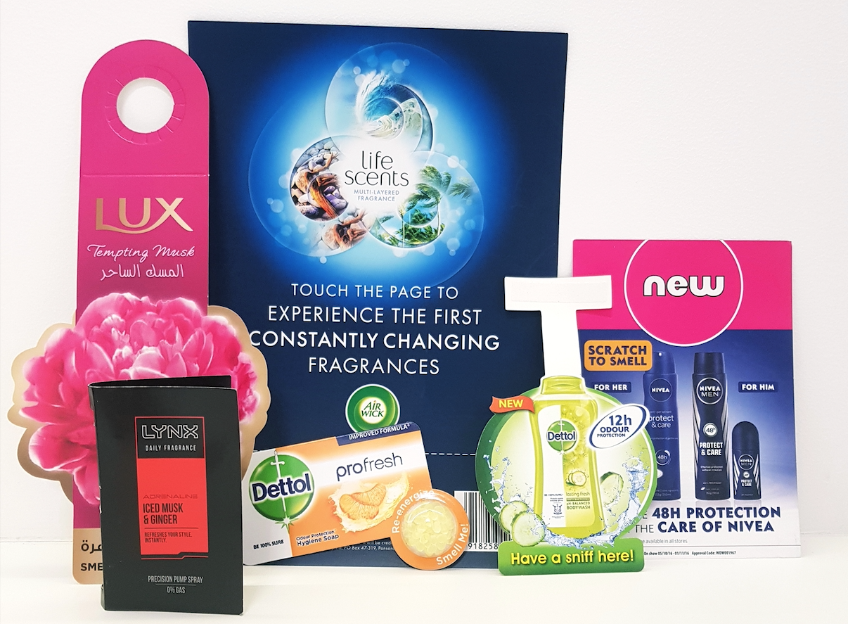 scented advertising materials shop