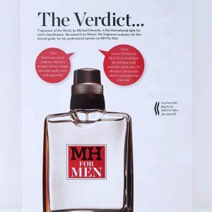 MH for Men Scent Strip in Magazine